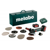 Акумуляторна кутова шліф машина METABO W 18 LTX 125 Quick Inox Set (600174880)