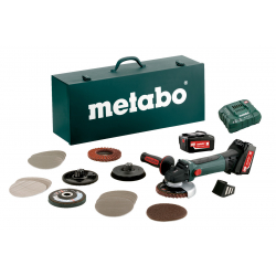 Аккумуляторная угловая шлиф машина METABO W 18 LTX 125 Quick Inox Set (600174880)