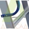 Стремянка-помост ELKOP TOR 708 алюминиевая, 8 ступеней, 2925 мм