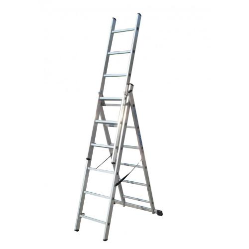 Лестница ELKOP VHR Trend 3x6 алюминиевая, 3 секции, 6-ступенчатая (VHRTS3*6)