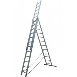 Лестница ELKOP VHR Hobby 3x12 алюминиевая, 3 секции, 12-ступенчатая (VHRH3*12)