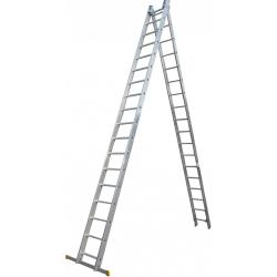 Драбина ELKOP VHR Profi 2x18 алюмінієва, 2 секції, 18-східчаста