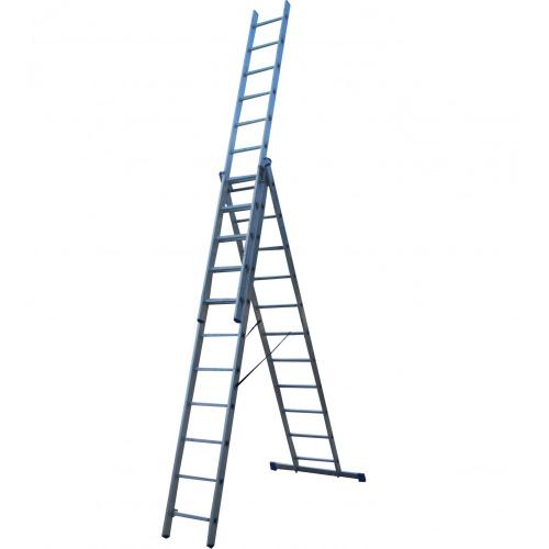Лестница ELKOP VHR Hobby 3x11 алюминиевая, 3 секции, 11-ступенчатая (VHRH3*11)